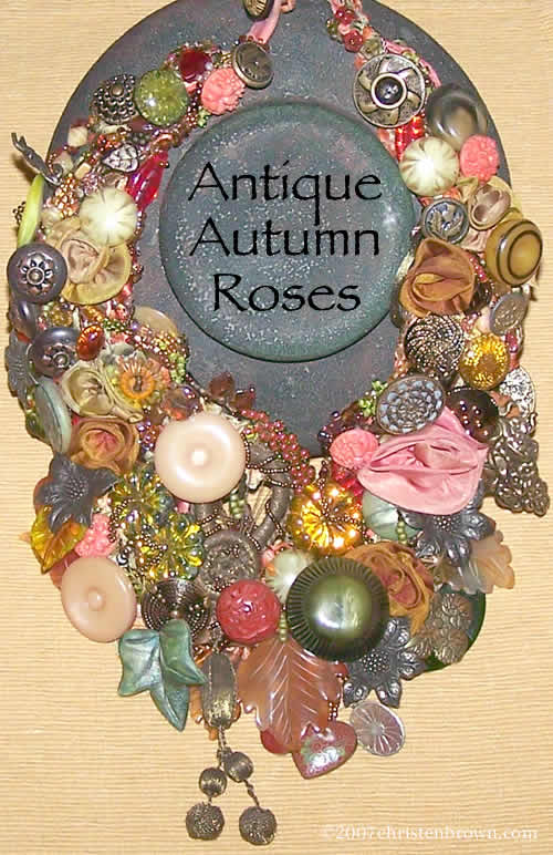 Antique Autumn Roses- by Christen Brown