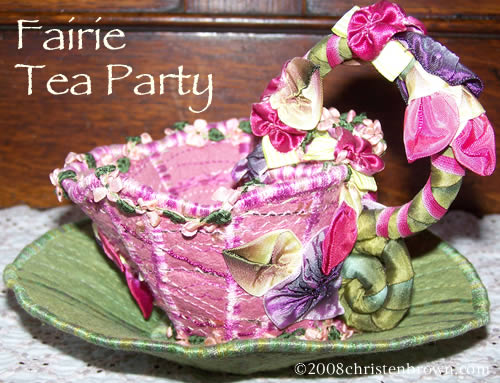 Fairie Tea Party by Christen Brown