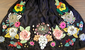 Vintage Floral Sewing Bag