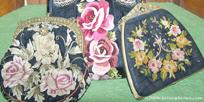 Vintage Purses with Tambour Embroidery