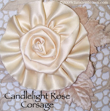 Candlelight Rose Corsage