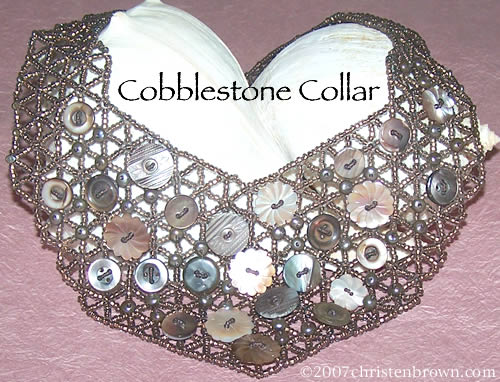 Cobblestone Collar- Beaded Jewelry Ensemble