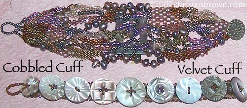 Cobblestone Collar- Beaded Jewelry Ensemble
