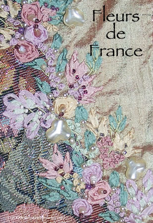 Fleurs de France- silk ribbon embroidery