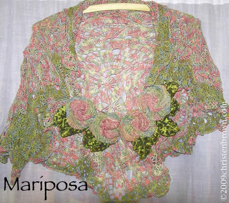 Mariposa- free form crochet shawl