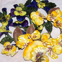 millinery pansies