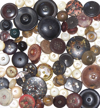a collection of whistle buttons