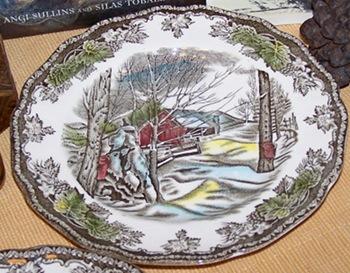 friendly village bread plate