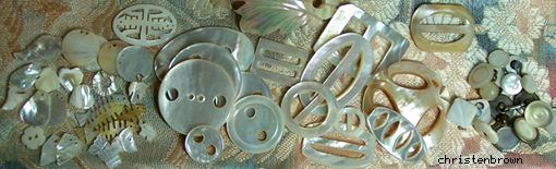 variety of items made from mother of pearl