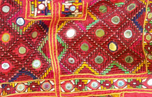 vintage embroidered textile