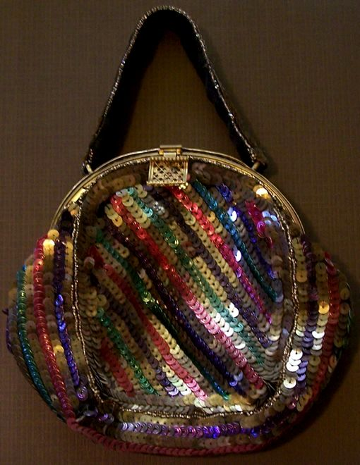 vintage sequin purse