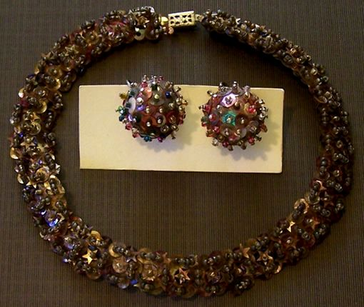 vintage sequin jewelry