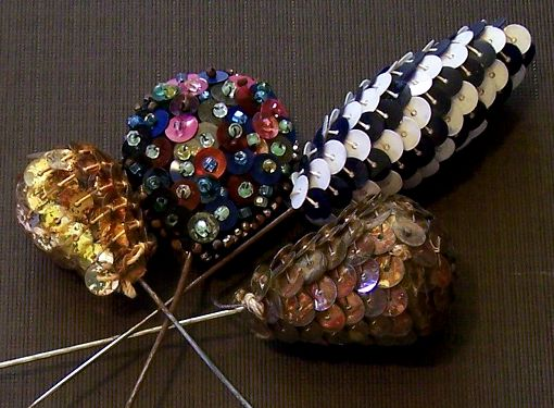 vintage hat pins mad with sequins