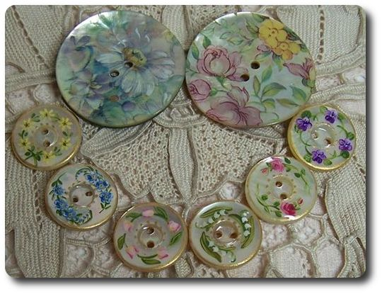 mother of pearl buttons with china transfers