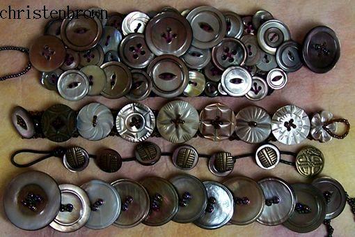 bracelets made from vintage tahiti shells
