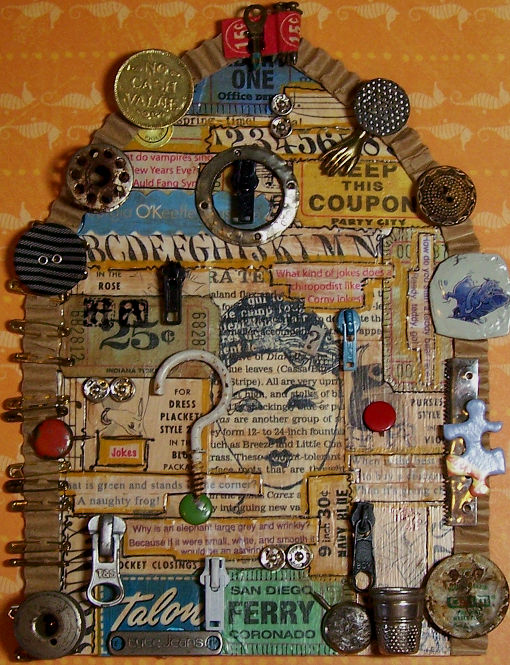 mixed media, junk, found objects