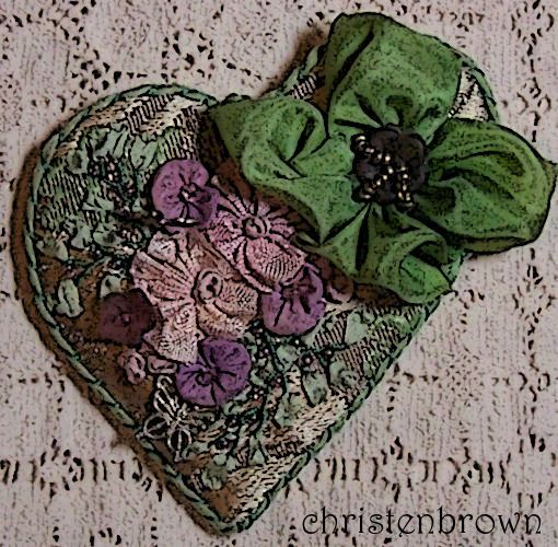 ribbon work and silk ribbon embroidery