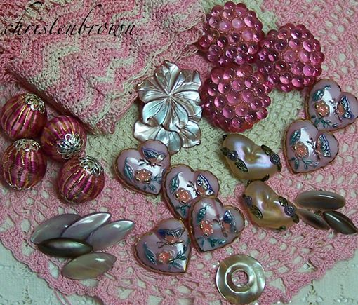 vintage buttons and beads