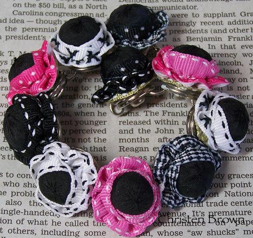 bracelet made from ribbon flowers