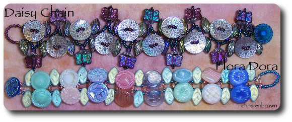 bracelets made from buttons and beads