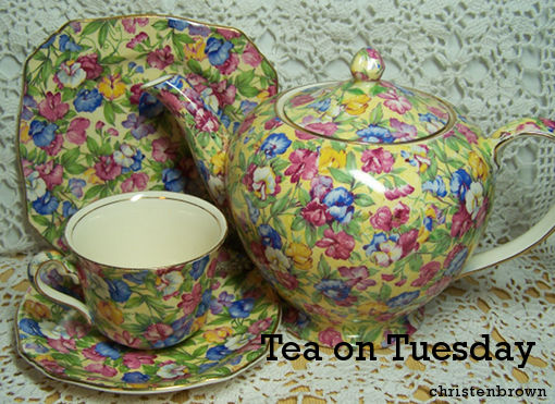 Sweetpea tea set