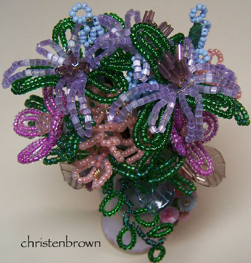 French wire beaded flowers