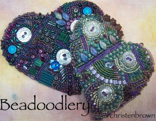 free-form bead embroidery