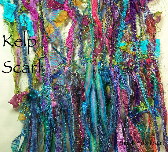 machine stitched threads and yarns
