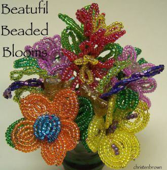 French beaded wire flowers