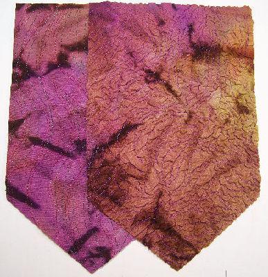machine stitched fabric