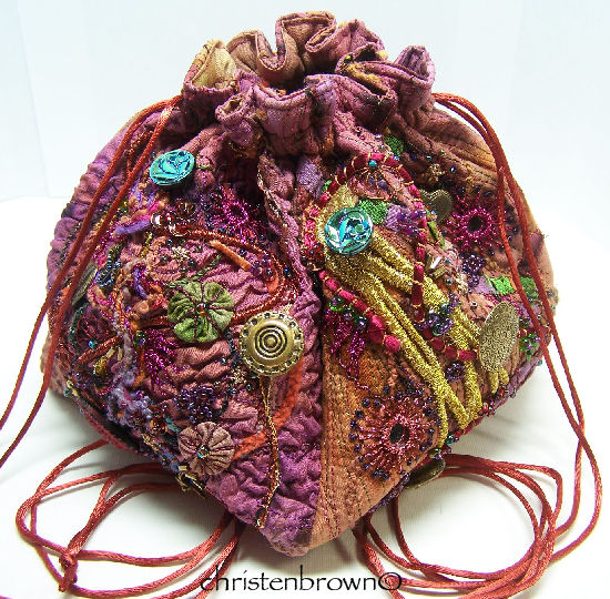 textured and treated reticule