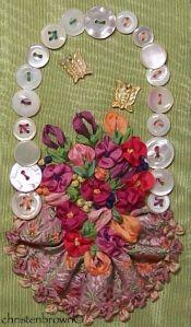 ribbonwork, embroidery