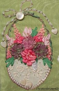 ribbonwork, embroidery