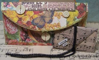 gift envelopes, collage, mixed media