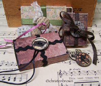 gift boxes, collage, mixed media