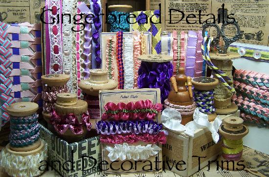 ribbonwork trims, ribbons, details, gingerbread trims