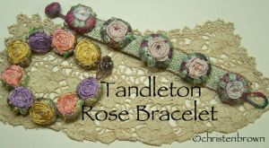 silk ribbon, embroidery, bracelets