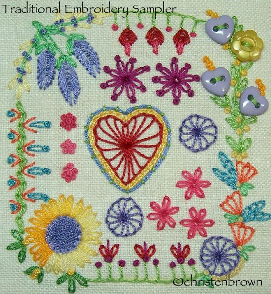 Embroidered And Embellished Samplers Christens Creations
