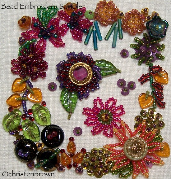 bead embroidery sampler