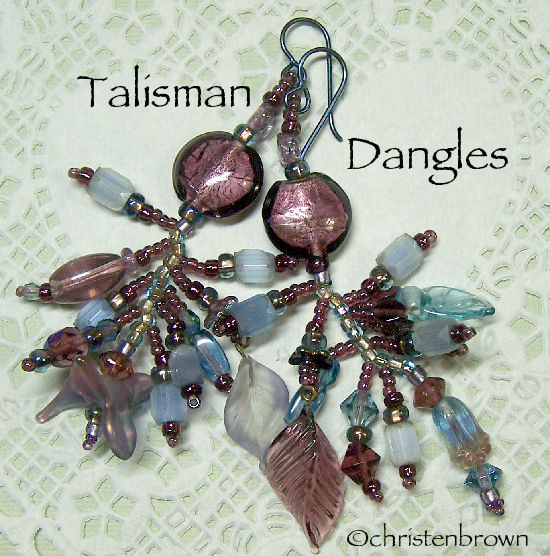 talisman dangle earrings