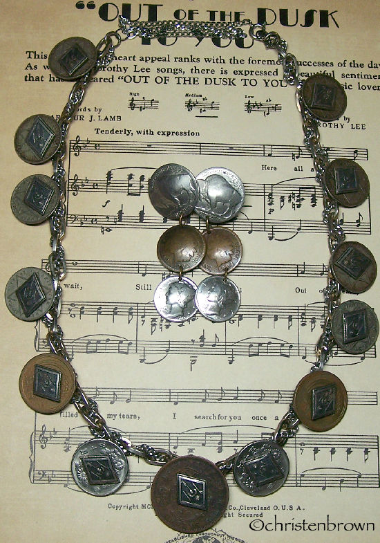coins and chain