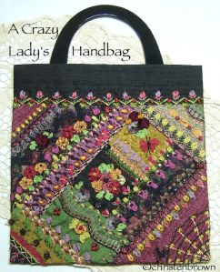 a crazy lady's handbag