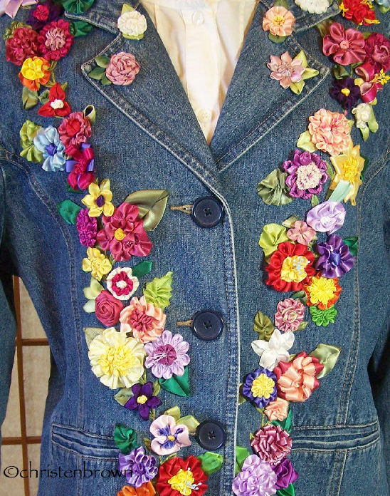 ribbonwork jean jacket