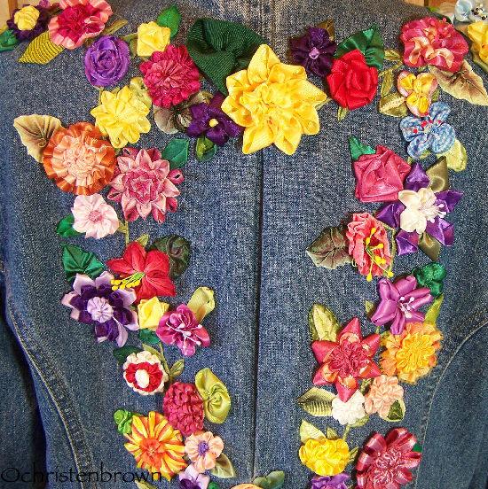ribbonwork jean's jacket