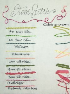 stem stitch sampler