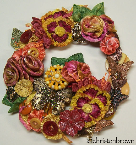 mariposa fall wreath