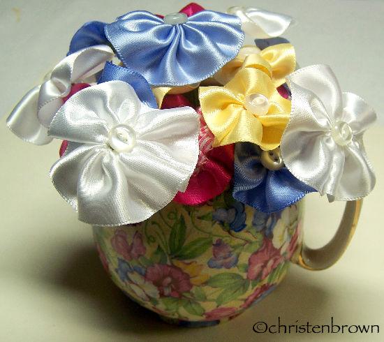 rosette vase