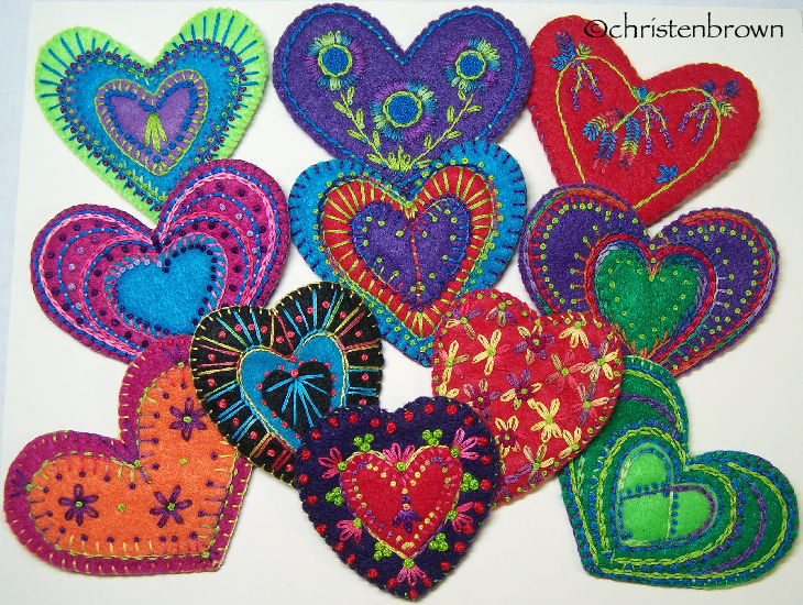 group of hearts