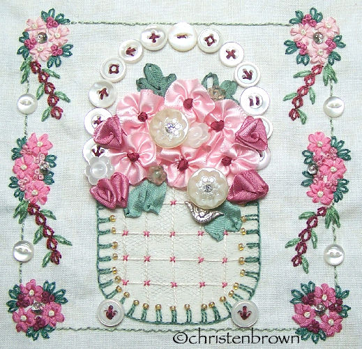 stitch along sampler block 7