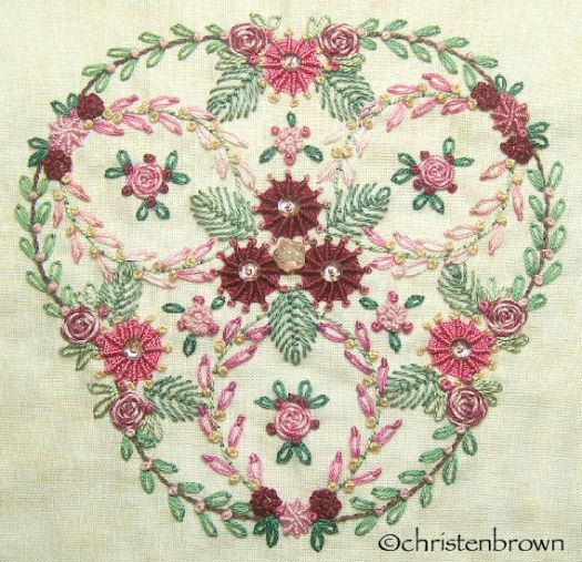 stitch along sampler block 8